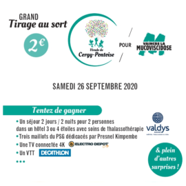 Grand tirage au sort – résultats – samedi 26 septembre 2020