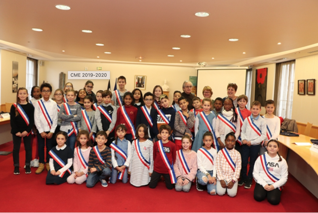 Le Conseil Municipal Enfants (2019-2020) de la ville de Vauréal